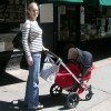 My beloved Bugaboo Frog stroller, with my first baby in 2004!