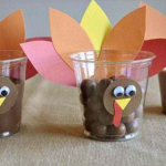 Thanksgiving turkey cups!