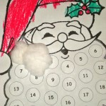Santa's beard advent calendar.