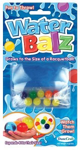 Toys recalled due to ingestion hazard include Water Balz.
